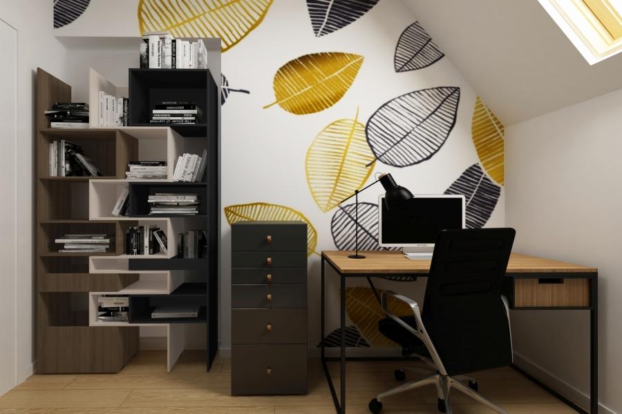 projektowanie wnetrza domowego gabinetu - APP Proste Wnetrze